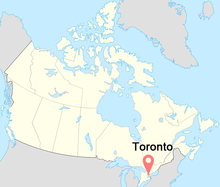 Canada-Toronto-time-zone-map