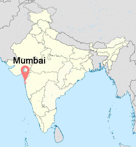 Mumbai-india-time-zone-map
